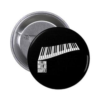 Million de piano de quartet du dollar - blanc badges