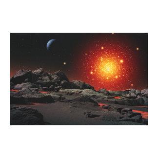 Million d'étoiles - groupe globulaire toile tendue sur châssis