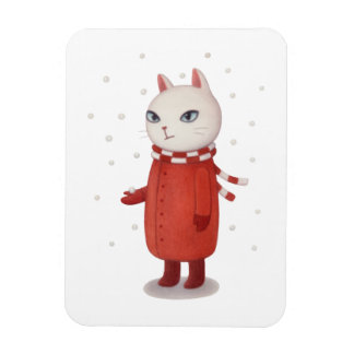 Mimi n'est pas une fan de neige magnets rectangulaires