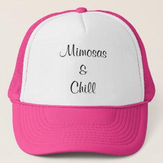 Mimosas et casquette froid