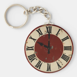 Minable vintage de visage d'horloge de montre de porte-clés