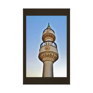 Minaret de coucher du soleil toile