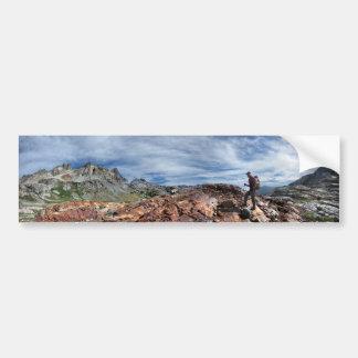 Minarets - région sauvage d'Ansel Adams - sierra Autocollant De Voiture