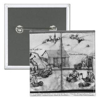 Mine argentée des Croix-aux -Mines de La Pin's Avec Agrafe