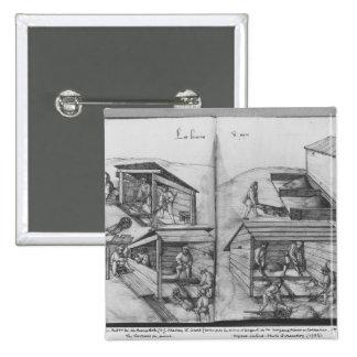 Mine argentée des Croix-aux.-Mines de La, Lorraine Badge Carré 5 Cm