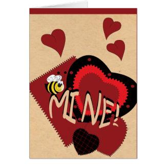 Mine d'abeille, Valentine doux Carte De Vœux