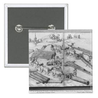 Mine de Siver des Croix-aux -Mines de La Lorraine Badge Avec Épingle