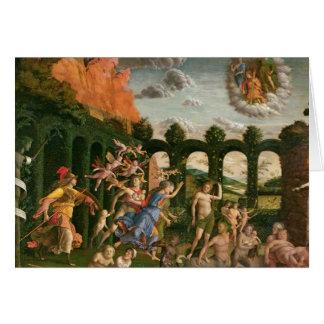 Minerva chassant les vices carte de vœux