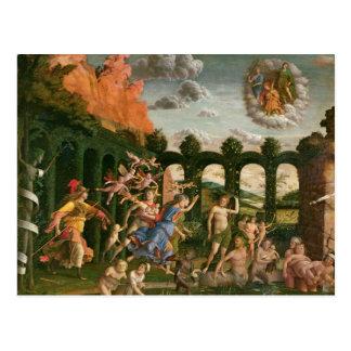 Minerva chassant les vices carte postale
