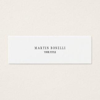 Mini blanc professionnel simple simple mini carte de visite