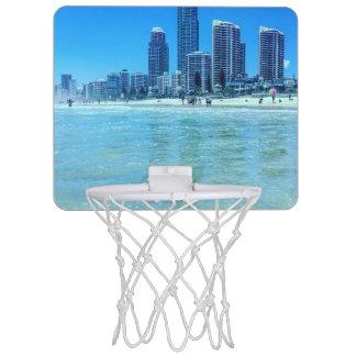 Mini but de basket-ball avec une vue mini-panier de basket