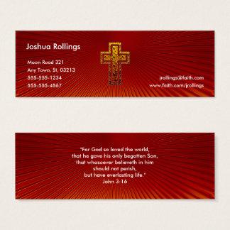 Mini Carte De Visite 3h16 de John - chrétien