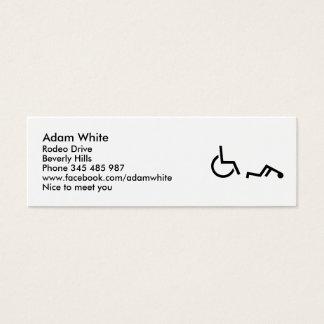 Mini Carte De Visite Accident de fauteuil roulant