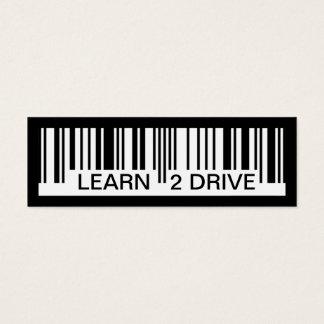 Mini Carte De Visite apprenez à conduire code barres