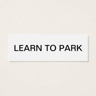 Mini Carte De Visite apprenez svp à se garer
