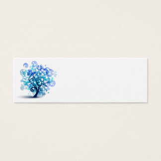 Mini Carte De Visite Arbre bleu