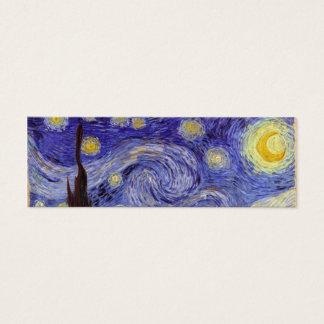 Mini Carte De Visite Beaux-arts de cru de nuit étoilée de Vincent van