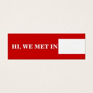 Mini Carte De Visite Blanc rouge de télécartes de voyage