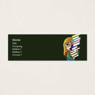 Mini Carte De Visite Bookgirl - maigre