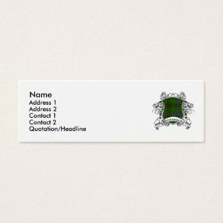 Mini Carte De Visite Bouclier de tartan de Henderson