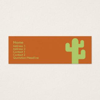 Mini Carte De Visite Cactus - maigre