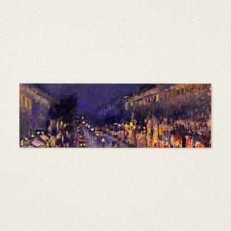 Mini Carte De Visite Camille Pissarro le boulevard Montmartre la nuit