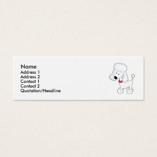 Mini Carte De Visite Caniche