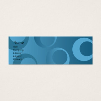 Mini Carte De Visite Cercles bleus - maigres