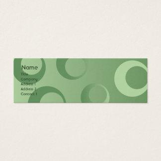 Mini Carte De Visite Cercles verts - maigres