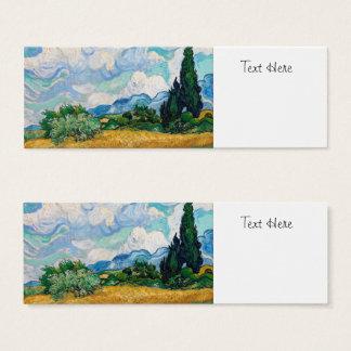Mini Carte De Visite Champ de blé avec des cyprès par Vincent van Gogh