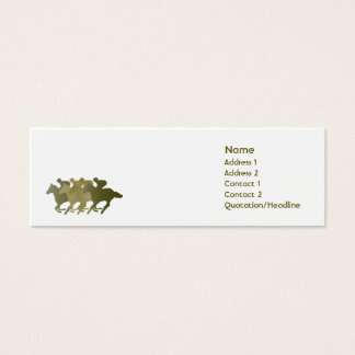 Mini Carte De Visite Cheval vert - maigre