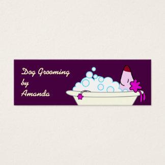 Mini Carte De Visite Chien dans la baignoire - Groomer d'animal