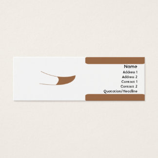 Mini Carte De Visite Chien - maigre