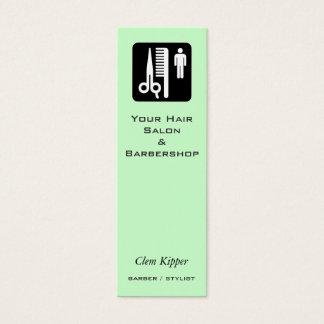 Mini Carte De Visite Ciseaux et entreprises de cheveux de peigne