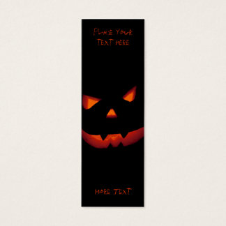 Mini Carte De Visite Citrouille 001 de Halloween - signet
