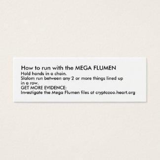 Mini Carte De Visite Comment courir avec le MÉGA FLUMEN