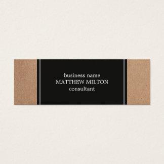 Mini Carte De Visite Consultant en matière blanc gris-foncé moderne de