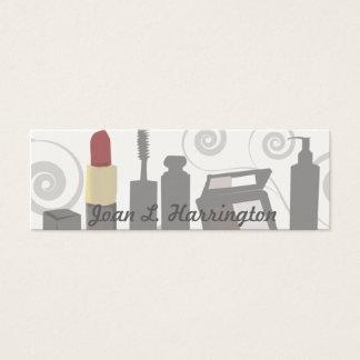 Mini Carte De Visite Cosmetologist féminin de remous moderne de