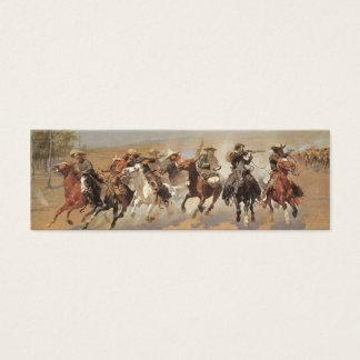 Mini Carte De Visite Cowboys vintages, un tiret pour le bois de