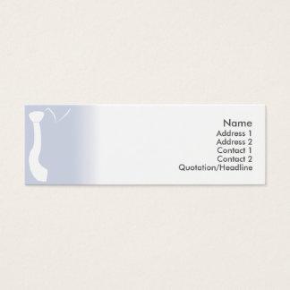 Mini Carte De Visite Cravate bleue - maigre