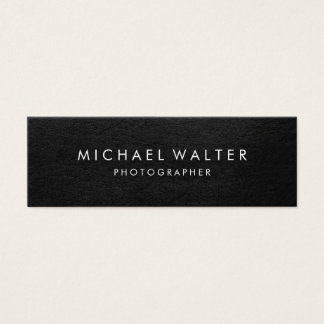 Mini Carte De Visite Cuir minimaliste professionnel de Faux