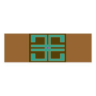 Mini carte de visite de dessin géométrique