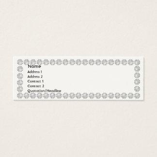 Mini Carte De Visite Diamants blancs - maigres