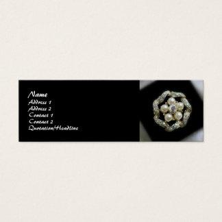 Mini Carte De Visite Diamants et perles