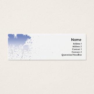 Mini Carte De Visite Éclaboussure bleue - maigre