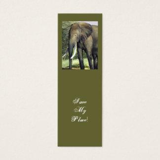 Mini Carte De Visite Économies de signet d'éléphant mon endroit !