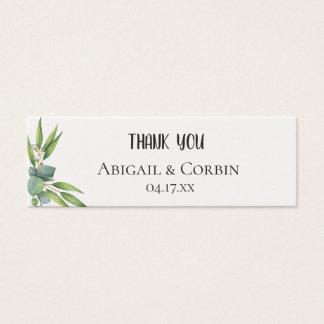 Mini Carte De Visite Étiquette de cadeau de mariage de feuillage