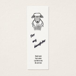 Mini Carte De Visite étiquette de cadeau - fille (2)
