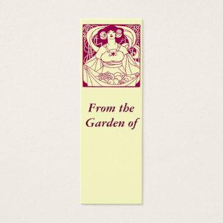 Mini Carte De Visite Étiquette de jardin de Nouveau d'art