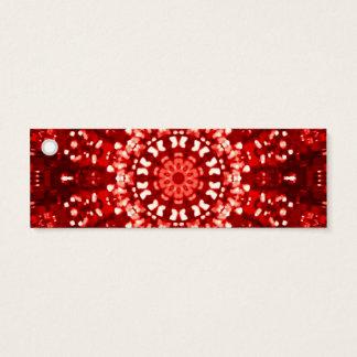Mini Carte De Visite Étiquette islamique maure rouge de cadeau